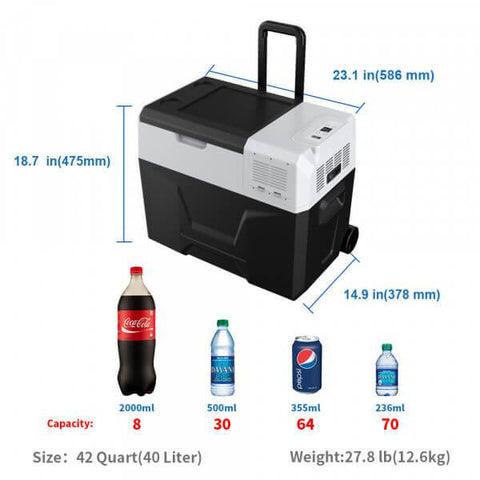 Image of ACOPOWER 42 Quarts Portable Solar Fridge Freezer