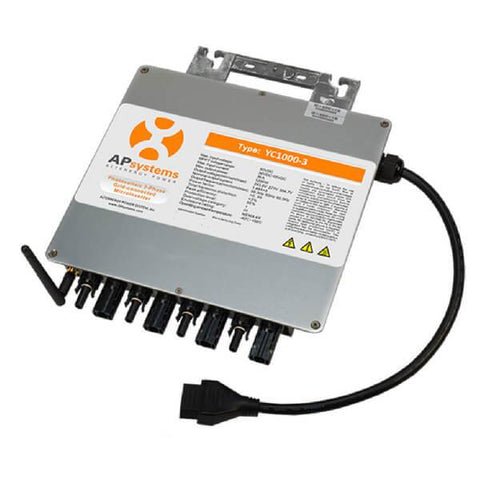 APsystems YC1000 480v Microinverter Three-Phase - Back
