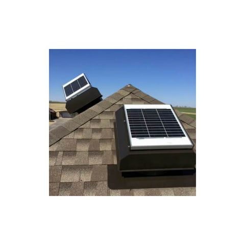 Image of Installation of Self-Flashing 20 Watt Attached GEN 2 Solar Attic Fans From Attic Breeze AB-2022A