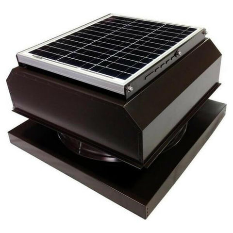 Attic Breeze GEN 2 Curb Mount 20W Attached Solar Attic Fan - Brown