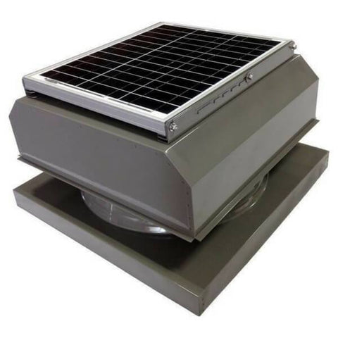 Image of Attic Breeze GEN 2 Curb Mount 20W Attached Solar Attic Fan - Grey