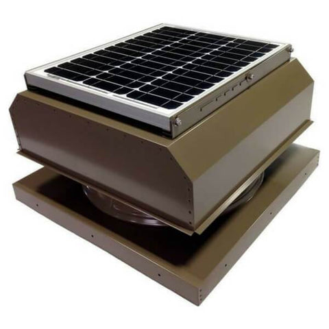 Image of Attic Breeze GEN 2 Curb Mount 20W Attached Solar Attic Fan - Shakewood