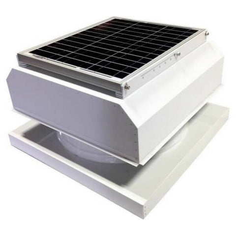 Attic Breeze GEN 2 Curb Mount 20W Attached Solar Attic Fan - White