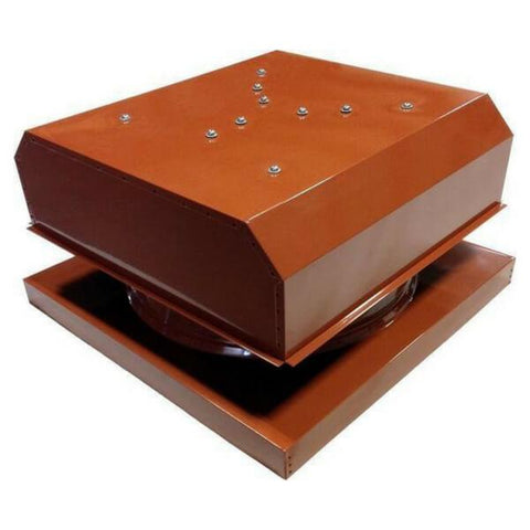 Image of Attic Breeze GEN 2 Curb Mount 20W Detached Solar Attic Fan - Terra Cotta