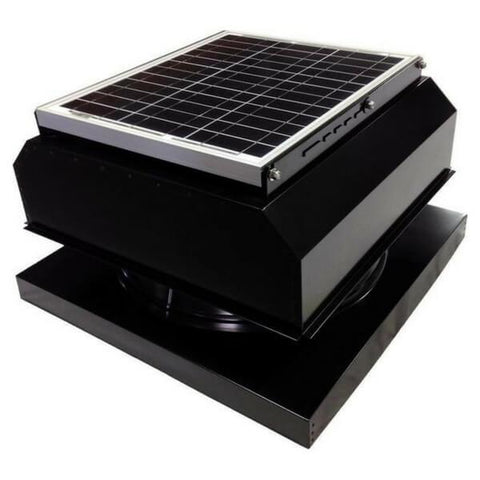 Curb Mount 30 Watt Attached GEN 2 Solar Attic Fans From Attic Breeze AB-3042A - Black