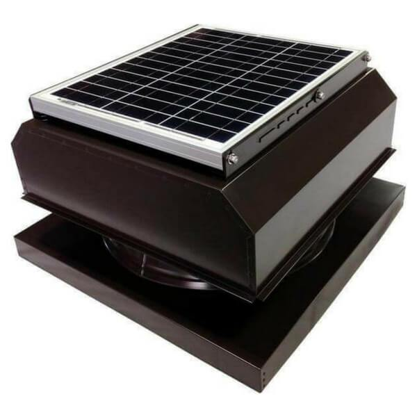 Curb Mount 30 Watt Attached GEN 2 Solar Attic Fans From Attic Breeze AB-3042A - Brown