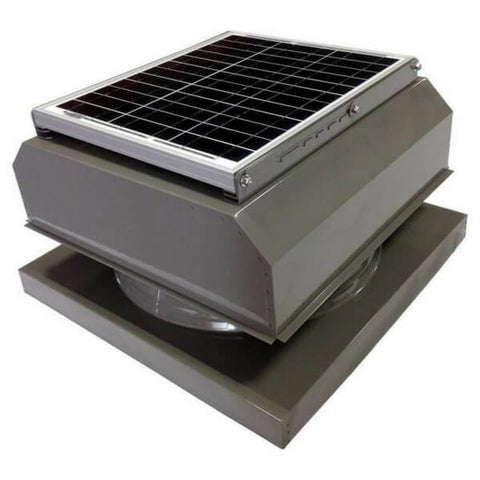 Image of Curb Mount 30 Watt Attached GEN 2 Solar Attic Fans From Attic Breeze AB-3042A - Gray