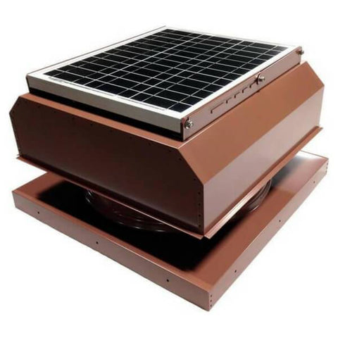Curb Mount 30 Watt Attached GEN 2 Solar Attic Fans From Attic Breeze AB-3042A - Hickory