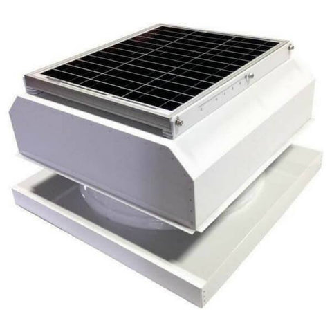 Image of Curb Mount 30 Watt Attached GEN 2 Solar Attic Fans From Attic Breeze AB-3042A - White