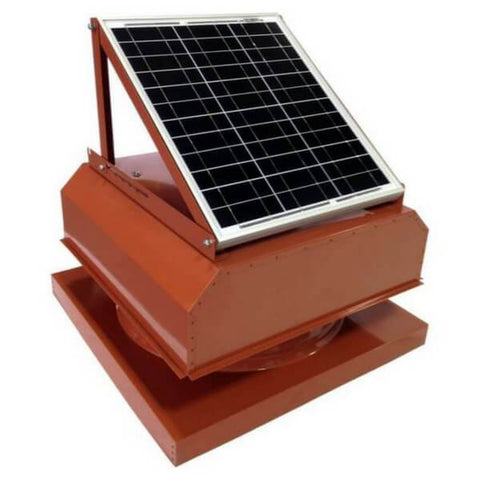 Image of Curb Mount 30 Watt Attached GEN 2 Solar Attic Fans From Attic Breeze AB-3042A