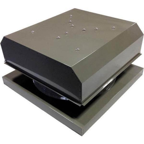 Image of Curb Mount 30 Watt Detached GEN 2 Solar Attic Fans From Attic Breeze AB-3042D - Gray
