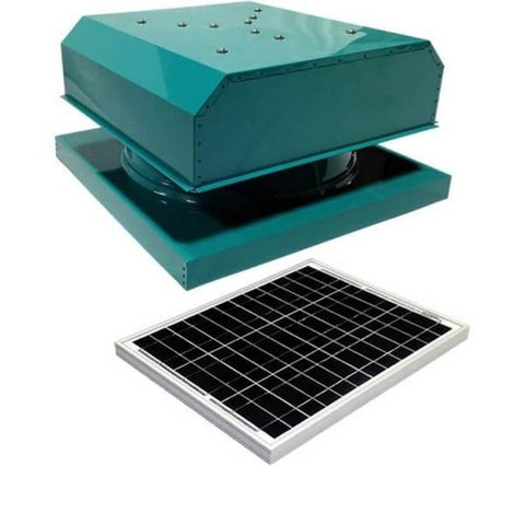 Curb Mount 30 Watt Detached GEN 2 Solar Attic Fans From Attic Breeze AB-3042D