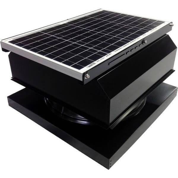 Curb Mount 40 Watt Attached GEN 2 Solar Attic Fans From Attic Breeze AB-4042A - Black