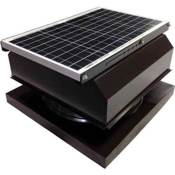 Curb Mount 40 Watt Attached GEN 2 Solar Attic Fans From Attic Breeze AB-4042A - Brown