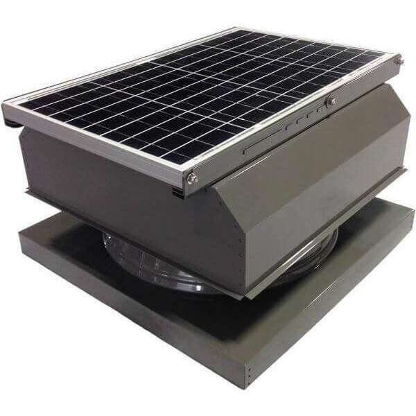 Curb Mount 40 Watt Attached GEN 2 Solar Attic Fans From Attic Breeze AB-4042A - Gray