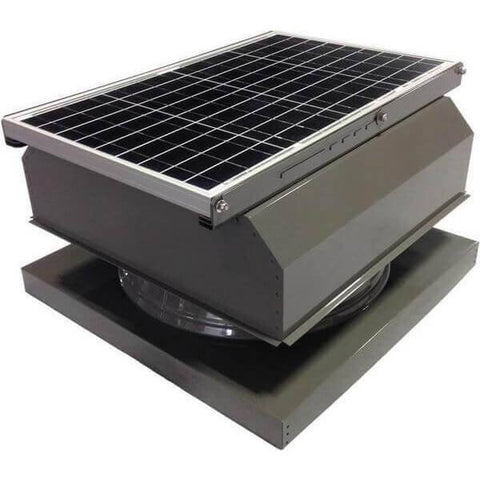 Image of Curb Mount 40 Watt Attached GEN 2 Solar Attic Fans From Attic Breeze AB-4042A - Gray
