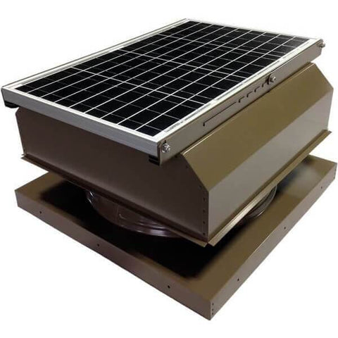 Curb Mount 40 Watt Attached GEN 2 Solar Attic Fans From Attic Breeze AB-4042A - Hickory