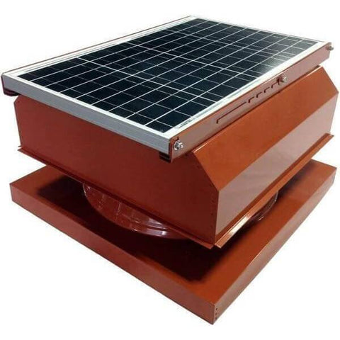 Curb Mount 40 Watt Attached GEN 2 Solar Attic Fans From Attic Breeze AB-4042A - Terra Cotta