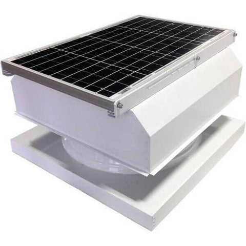 Curb Mount 40 Watt Attached GEN 2 Solar Attic Fans From Attic Breeze AB-4042A - White