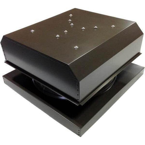 Image of Curb Mount 40 Watt Detached GEN 2 Solar Attic Fans From Attic Breeze AB-4042D - Brown