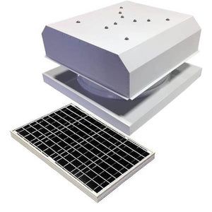 Curb Mount 40 Watt Detached GEN 2 Solar Attic Fans From Attic Breeze AB-4042D