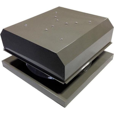 Image of Curb Mount 60 Watt Detached GEN 2 Solar Attic Fans From Attic Breeze AB-6042D - Gray