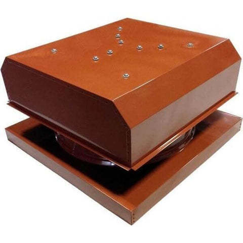 Image of Curb Mount 60 Watt Detached GEN 2 Solar Attic Fans From Attic Breeze AB-6042D - Terra Cotta