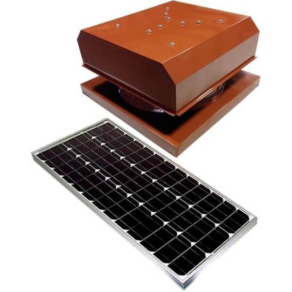 Curb Mount 60 Watt Detached GEN 2 Solar Attic Fans From Attic Breeze AB-6042D