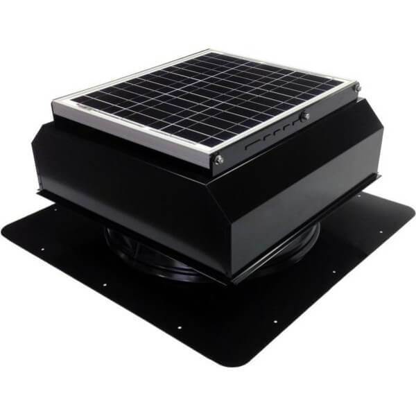 Self-Flashing 20 Watt Attached GEN 2 Solar Attic Fans From Attic Breeze AB-2022A - Black