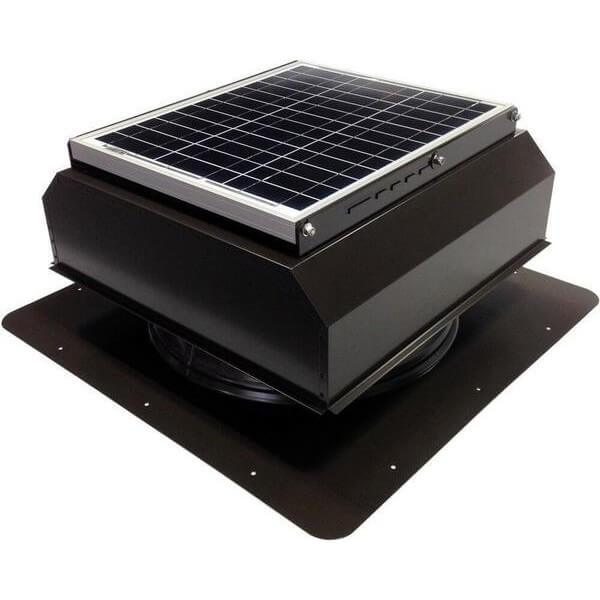 Self-Flashing 20 Watt Attached GEN 2 Solar Attic Fans From Attic Breeze AB-2022A - Brown