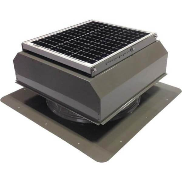 Self-Flashing 20 Watt Attached GEN 2 Solar Attic Fans From Attic Breeze AB-2022A - Gray