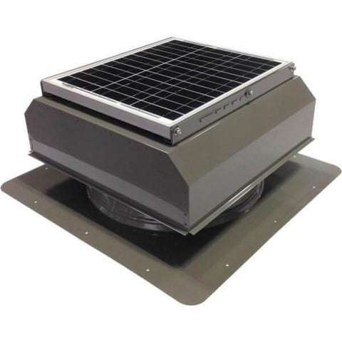 Image of Self-Flashing 20 Watt Attached GEN 2 Solar Attic Fans From Attic Breeze AB-2022A - Gray