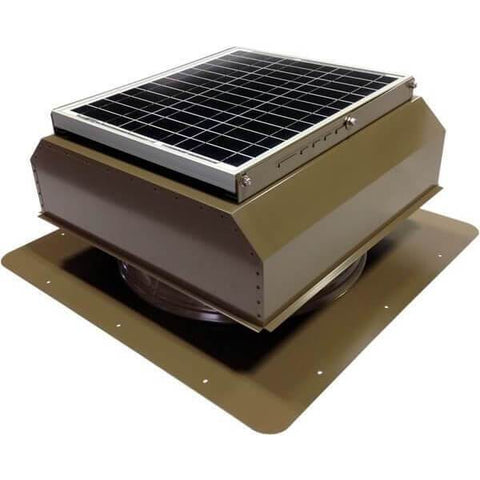 Image of Self-Flashing 20 Watt Attached GEN 2 Solar Attic Fans From Attic Breeze AB-2022A - Shakewood