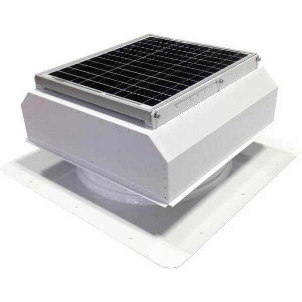 Self-Flashing 20 Watt Attached GEN 2 Solar Attic Fans From Attic Breeze AB-2022A - White