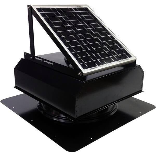 Self-Flashing 20 Watt Attached GEN 2 Solar Attic Fans From Attic Breeze AB-2022A