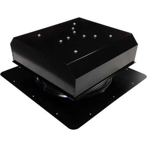 Image of Self-Flashing 20 Watt Detached GEN 2 Solar Attic Fans From Attic Breeze AB-2022D - Black