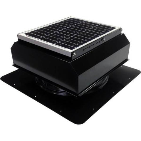 Image of Self-Flashing 30 Watt Attached GEN 2 Solar Attic Fans From Attic Breeze AB-3022A - Black
