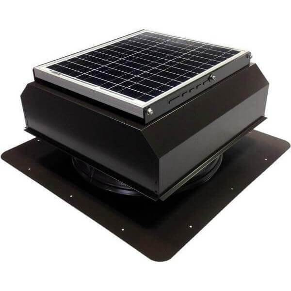 Self-Flashing 30 Watt Attached GEN 2 Solar Attic Fans From Attic Breeze AB-3022A - Brown