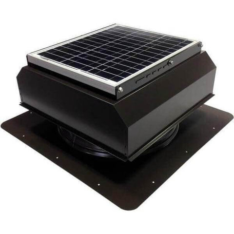 Image of Self-Flashing 30 Watt Attached GEN 2 Solar Attic Fans From Attic Breeze AB-3022A - Brown