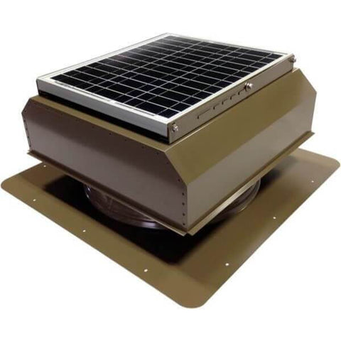 Image of Self-Flashing 30 Watt Attached GEN 2 Solar Attic Fans From Attic Breeze AB-3022A - Shakewood