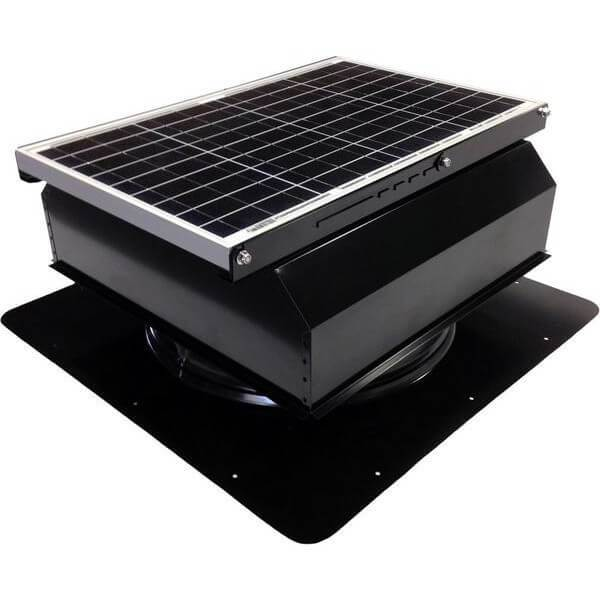 Self-Flashing 40 Watt Attached GEN 2 Solar Attic Fans From Attic Breeze AB-4022A - Black