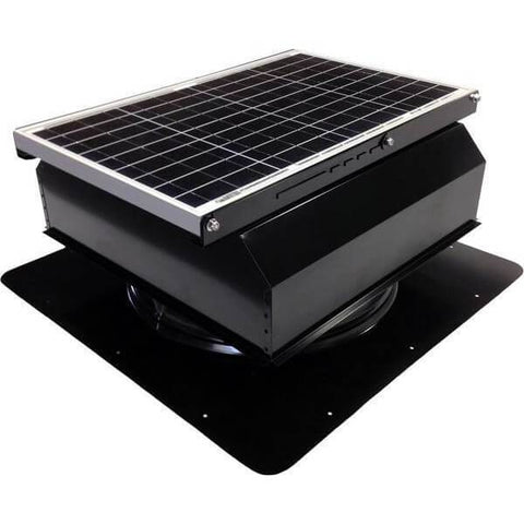 Image of Self-Flashing 40 Watt Attached GEN 2 Solar Attic Fans From Attic Breeze AB-4022A - Black