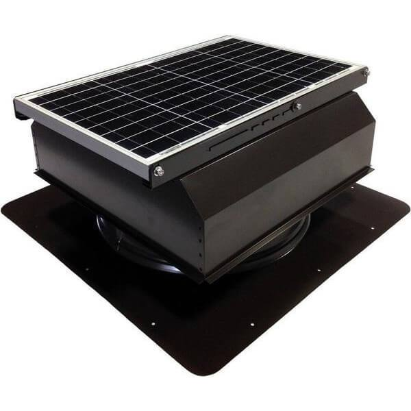 Self-Flashing 40 Watt Attached GEN 2 Solar Attic Fans From Attic Breeze AB-4022A - Brown