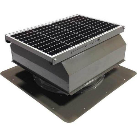 Image of Self-Flashing 40 Watt Attached GEN 2 Solar Attic Fans From Attic Breeze AB-4022A - Gray