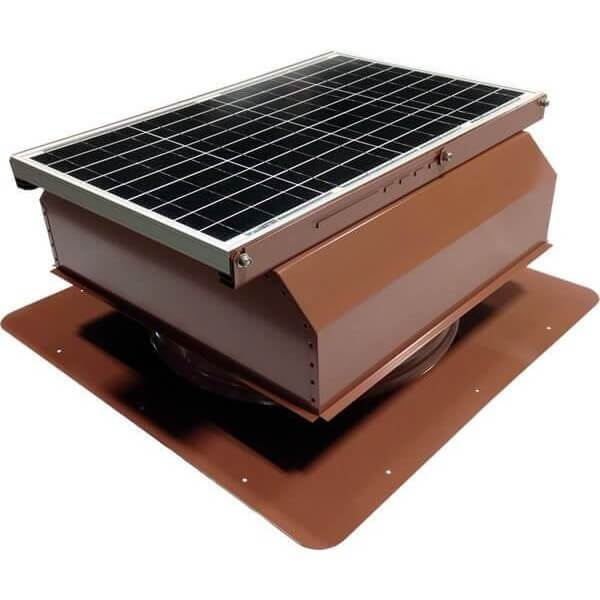 Self-Flashing 40 Watt Attached GEN 2 Solar Attic Fans From Attic Breeze AB-4022A - Hickory