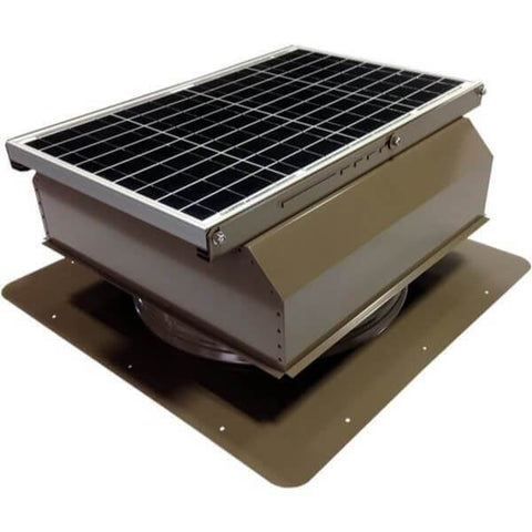 Image of Self-Flashing 40 Watt Attached GEN 2 Solar Attic Fans From Attic Breeze AB-4022A - Shakewood