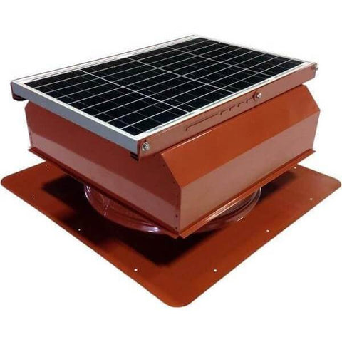 Image of Self-Flashing 40 Watt Attached GEN 2 Solar Attic Fans From Attic Breeze AB-4022A - Terra Cotta