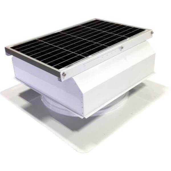 Self-Flashing 40 Watt Attached GEN 2 Solar Attic Fans From Attic Breeze AB-4022A - White