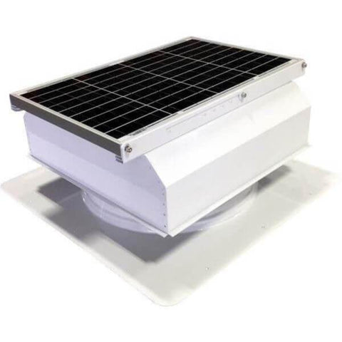 Image of Self-Flashing 40 Watt Attached GEN 2 Solar Attic Fans From Attic Breeze AB-4022A - White
