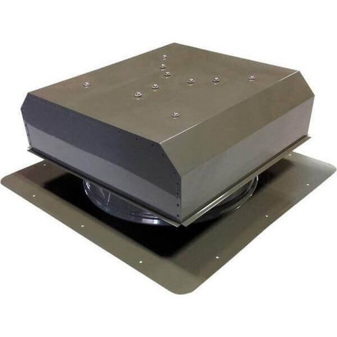 Self-Flashing 40 Watt Detached GEN 2 Solar Attic Fans From Attic Breeze AB-4022D - Gray